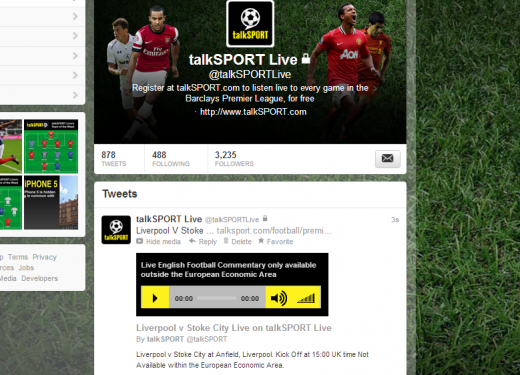 Twitter Image 520x375 TalkSport to stream English Premier League commentary directly on Twitter, but not in Europe