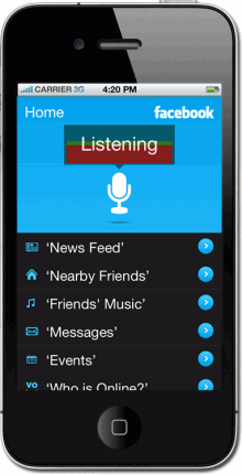 WonderVoice Listening 220x431 WonderVoice wants to be Siri for Facebook