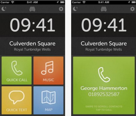a17 520x445 TNW Pick of the Day: Drive for iPhone gives you quick access to calls, texts, music and maps on the road
