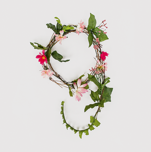 anne lee g Typographic inspiration: Creating a font from flowers