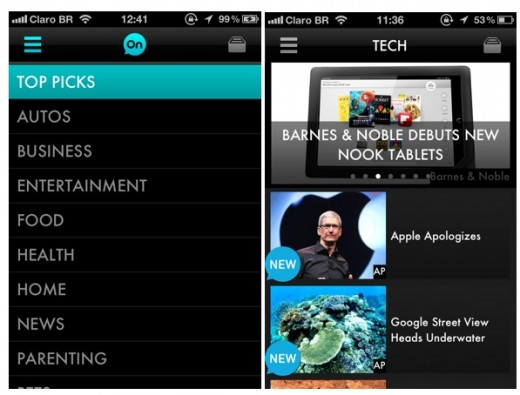 aol on app 520x395 AOL On Network launches mobile video apps to lure advertisers across multiple platforms
