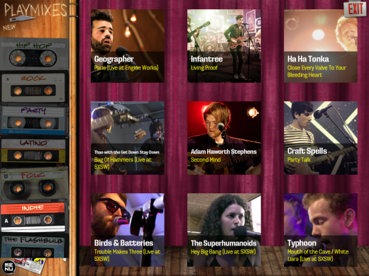 bammtv app 2 520x390 BAMM.tv launches iPad app to encourage music discovery and artist payments