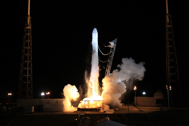 SpaceX launches Dragon capsule as it teams up with NASA for ISS delivery