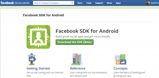 fb android dev center 520x257 Facebook announces new Android Developer Center and the biggest overhaul to its Android SDK yet