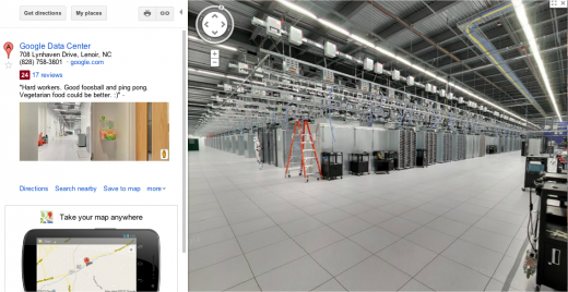 Google Maps street view of its North Carolina Data Center