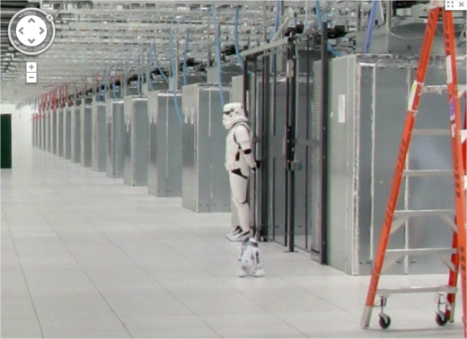 Google Maps street view of its North Carolina Data Center: Stormtrooper view
