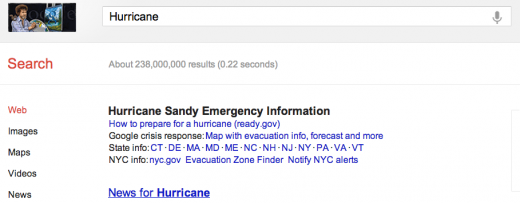 hurricane 520x203 More Hurricane Sandy help: Google intros Public Alerts to provide crisis information via Search, Maps
