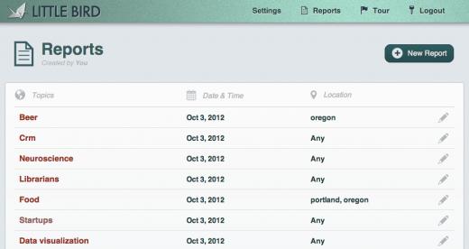 LittleBird screenshot of report dashboard