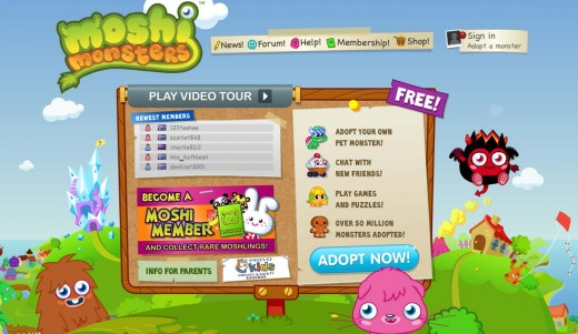 moshi monsters screen 520x301 This is your brain on Mind Candy: Acton Smith on the future of Moshi Monsters