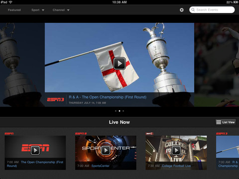 ESPN Now Allows AirPlay Of All Channels In iOS App