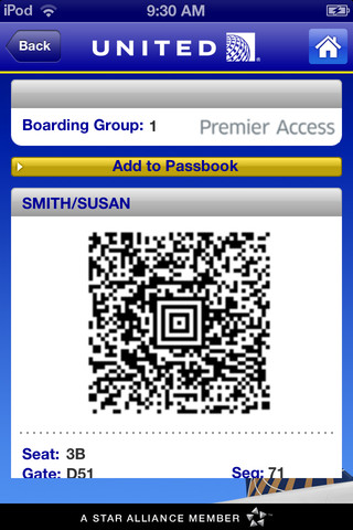 United Airlines Gets Apple Passbook Support
