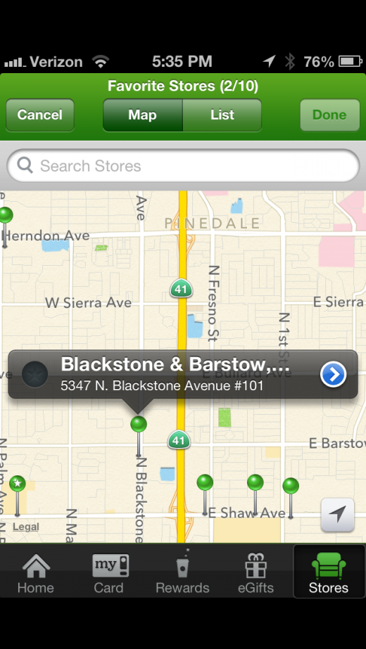 photo 13 520x923 Starbucks app for iPhone adds Apple Passbook support, and it nails it