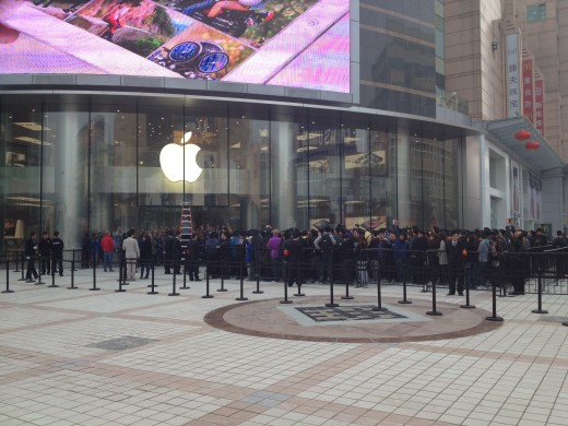 photo 8 520x390 Apple opens new Wangfujing, China store to massive crowd