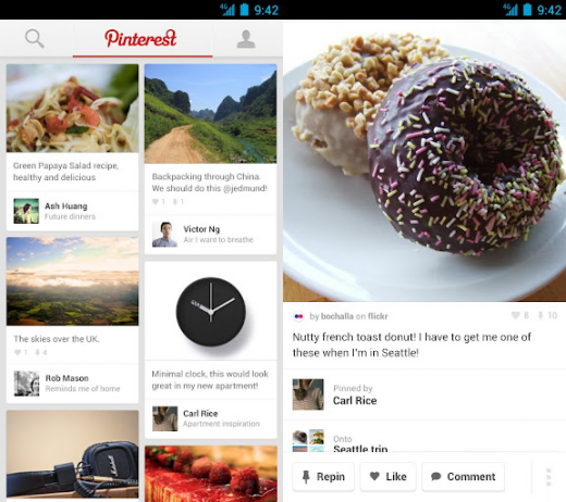pinterest android 520x462 Pinterest for Android blows up taller images, makes it easier to pin and discover content