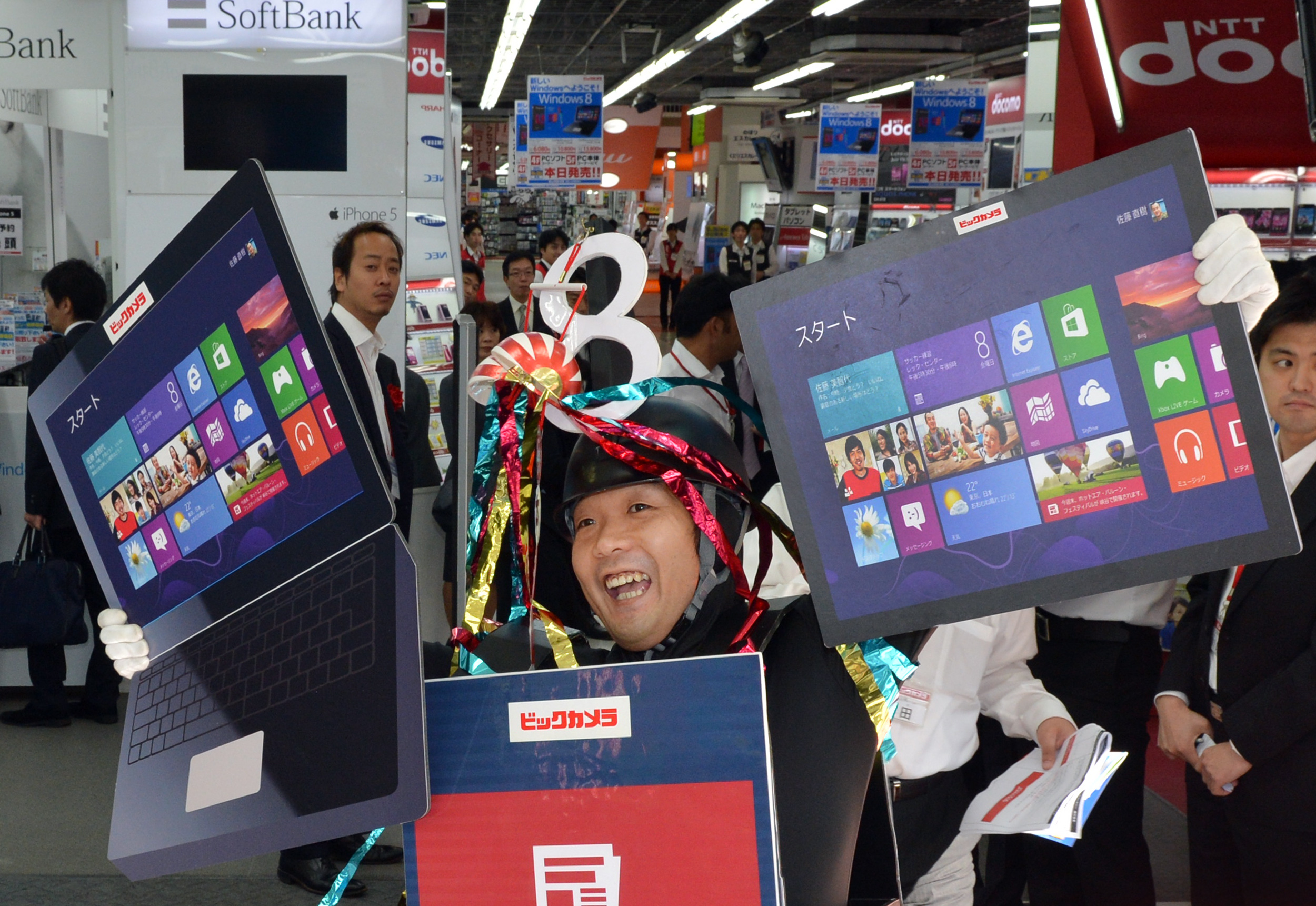 Windows 8 Sandwich-Board Man wishes you a happy launch day