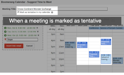 tentativemeetings1 Google focused Boomerang Calendar plugin launches in public beta, now localized for Europe
