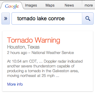 tornado warning More Hurricane Sandy help: Google intros Public Alerts to provide crisis information via Search, Maps