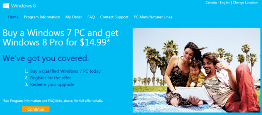 windows 8 loophole 2 520x228 Microsoft site loophole lets anyone buy Windows 8 Pro for just $15