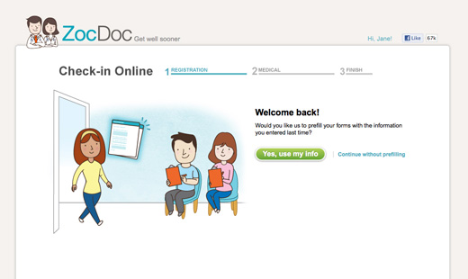 zocdoc2 ZocDoc launches check in service to reduce time spent filling out mundane medical forms