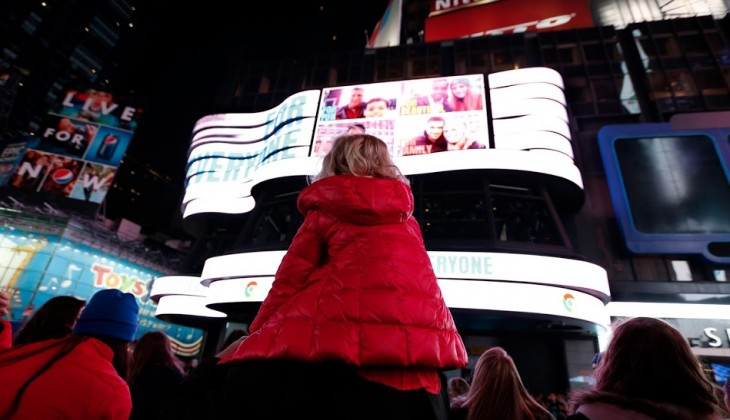 Google takes over Times Square, just to prove its Chromebook is for everyone