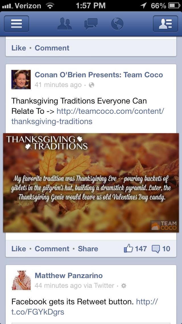 Facebook Gets Its Retweet Button