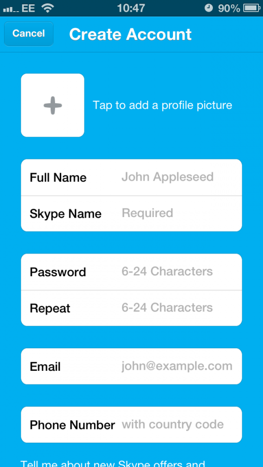 IMG 4637 520x923 Skype for iOS updated with Microsoft account support, additional emoticons and message editing