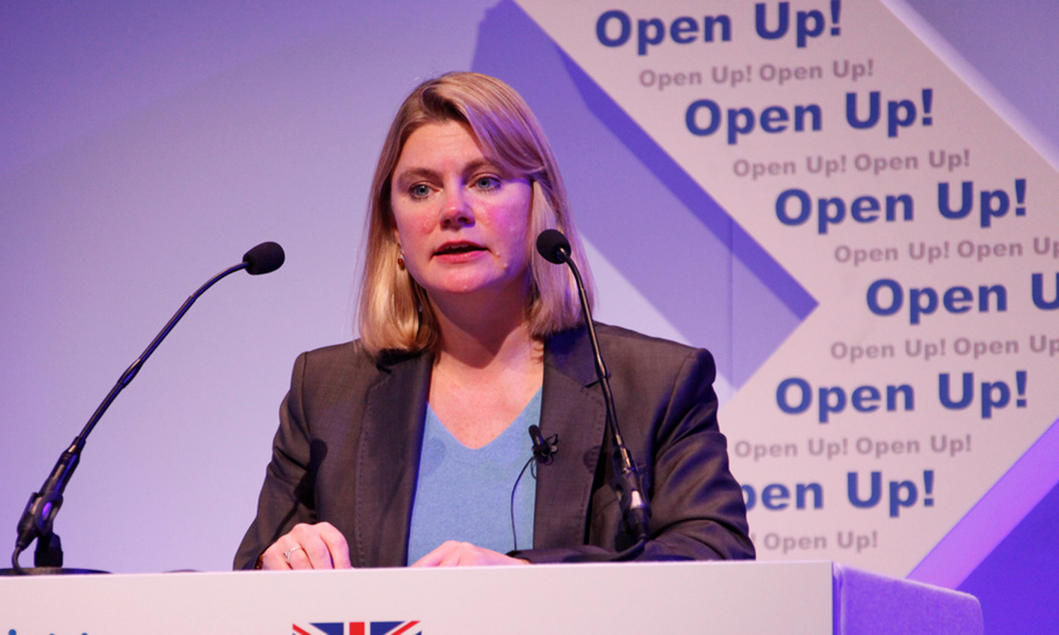 Justine Greening MP DIFD Flickr UK MP Justine Greening unleashes formidable DFID tech to do list at the Open Up! conference