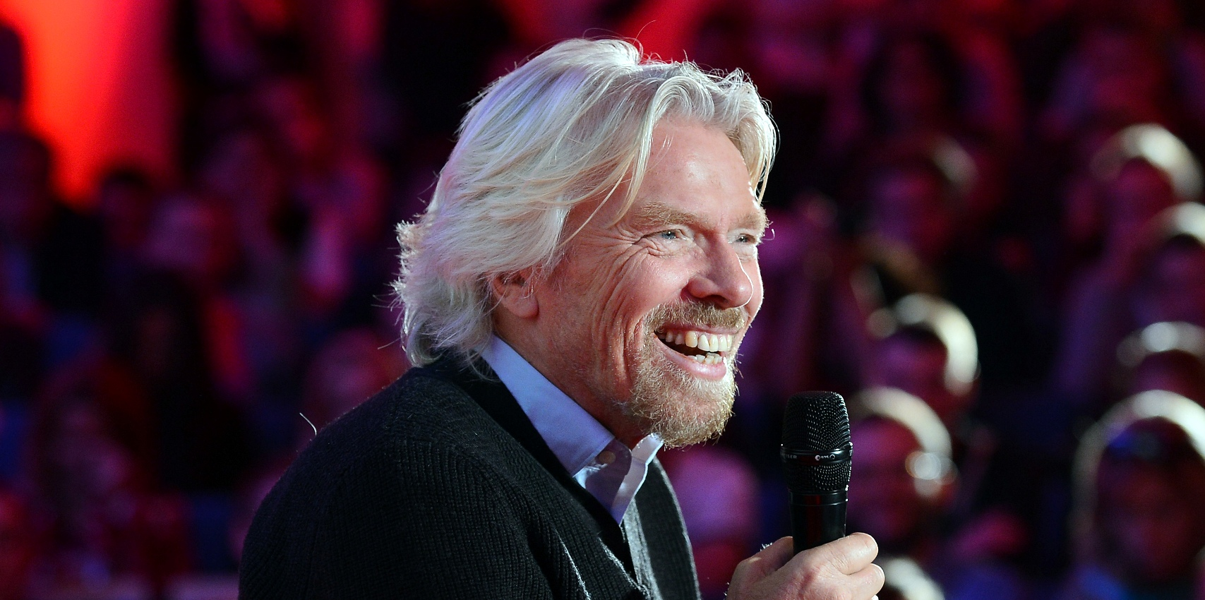 Richard Branson, chairman and founder of Virgin Group attends a meeting with students at Warsaw university on October 24, 2012. AFP PHOTO / JANEK SKARZYNSKI (Photo credit should read JANEK SKARZYNSKI/AFP/Getty Images)