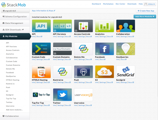 StackMob marketplace