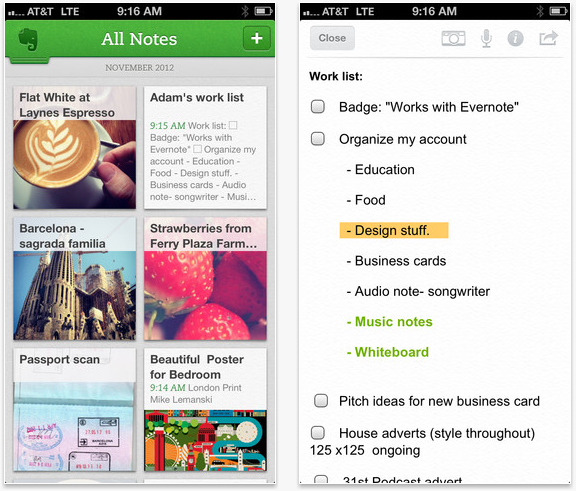 Screen Shot 2012 11 08 at 9.38.23 AM Evernote version 5.0 for iOS is out! Features a fresh design and curious new navigation