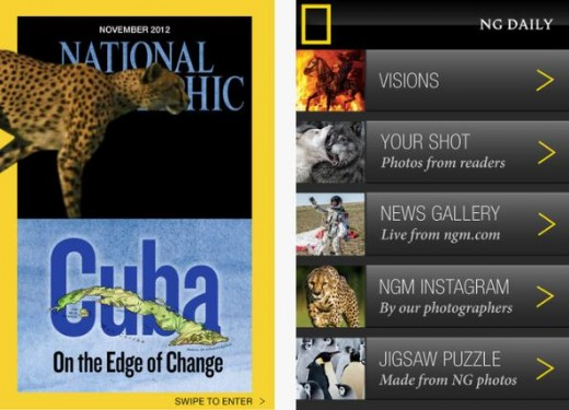Screenshot 1 520x375 National Geographic makes its multimedia magazine available for iPhones