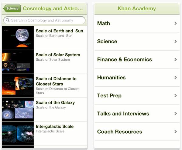 Khan Academy iOS App