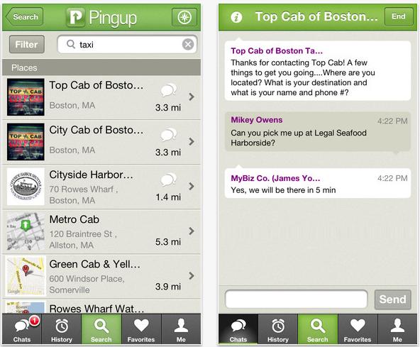 Pingup screenshot for iOS