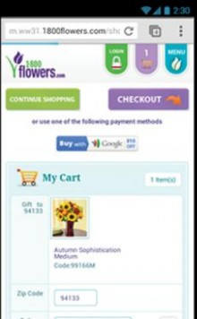 a2 220x356 Three clicks: Google Wallet integrates with merchants mobile sites to speed up the check out process