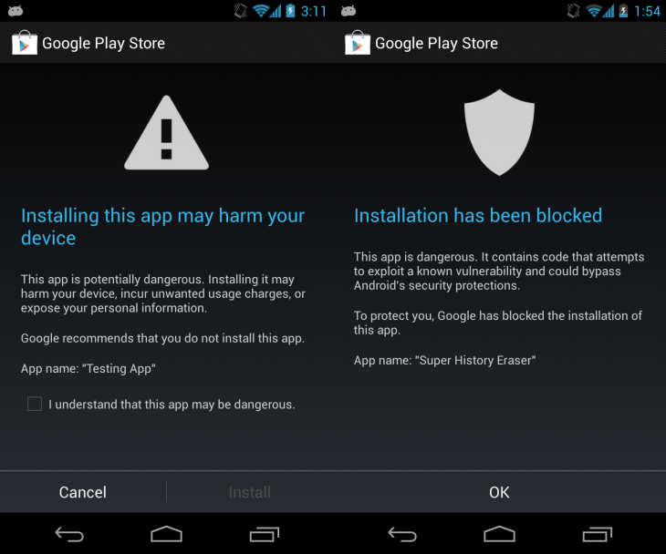 app verification Google describes how Android 4.2s app verification checks your downloads for malware