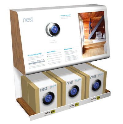 best buy nest thermostat display Intelligent thermostat Nest 2 now available at 600 Best Buy retail stores