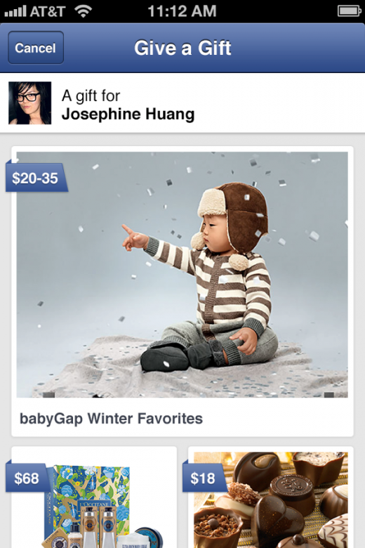 detail 520x780 Facebook expands Gifts program by rolling out to millions more users, adding new partners