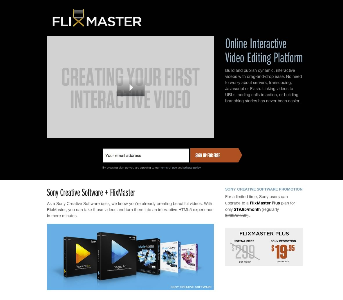 flixmaster 04 FlixMaster partners with Sony Creative Software to bring interactive videos tools to a broader audience