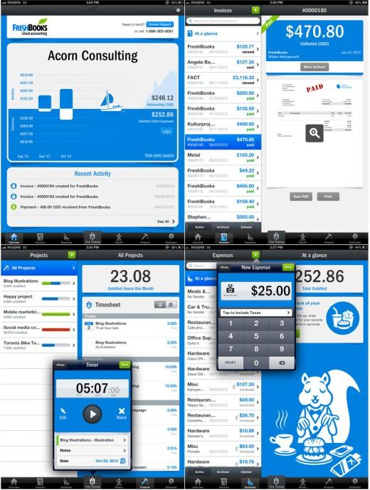FreshBooks for iPad Screenshots
