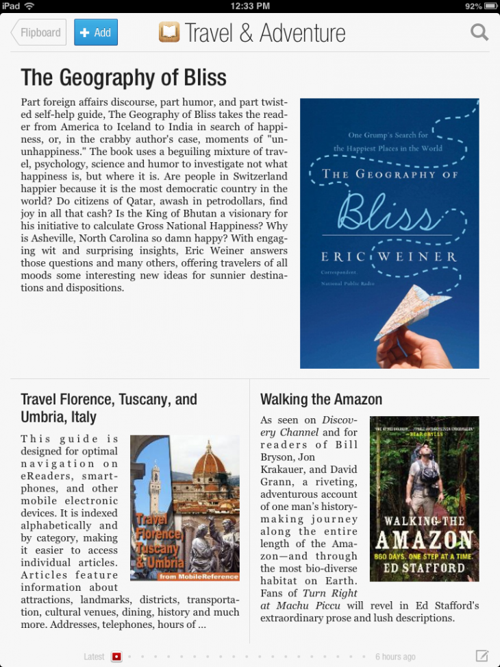 iBooksFlipboardTravel 730x973 Flipboard teams up with Apple to launch new iBookstore powered Books section in its iOS apps