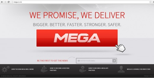 megaconz 520x264 With Kim Dotcoms Me.ga plans scuppered, soon to relaunch Mega goes online at Mega.co.nz