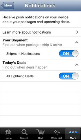 Amazon app for iOS updated with alert tracking for package shipping, delivery and lightning deals
