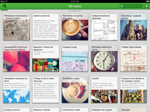 Evernote version 5.0 for iOS is out! Features a fresh design and curious new navigation