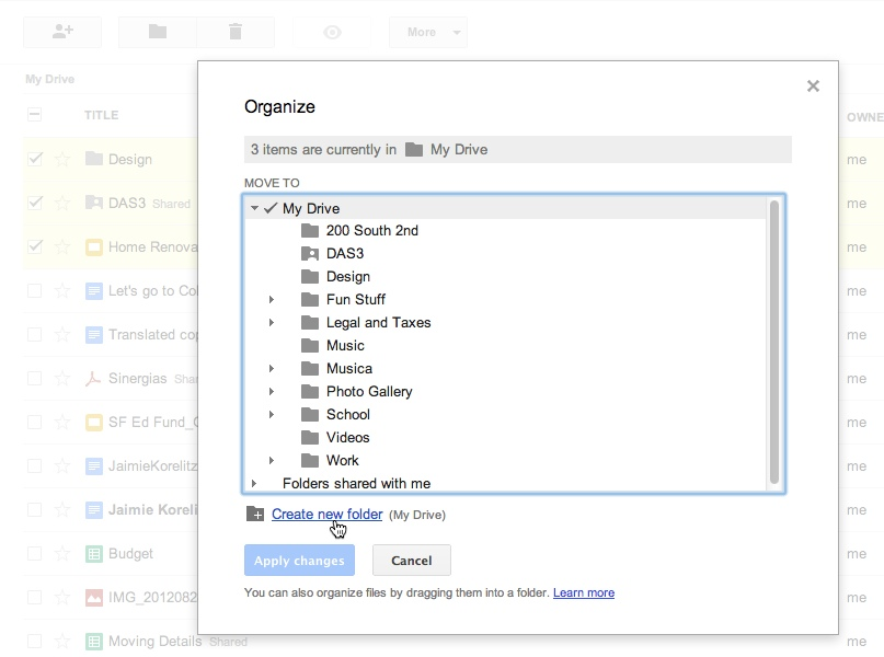 Google Drive Gets Five Organizational Features
