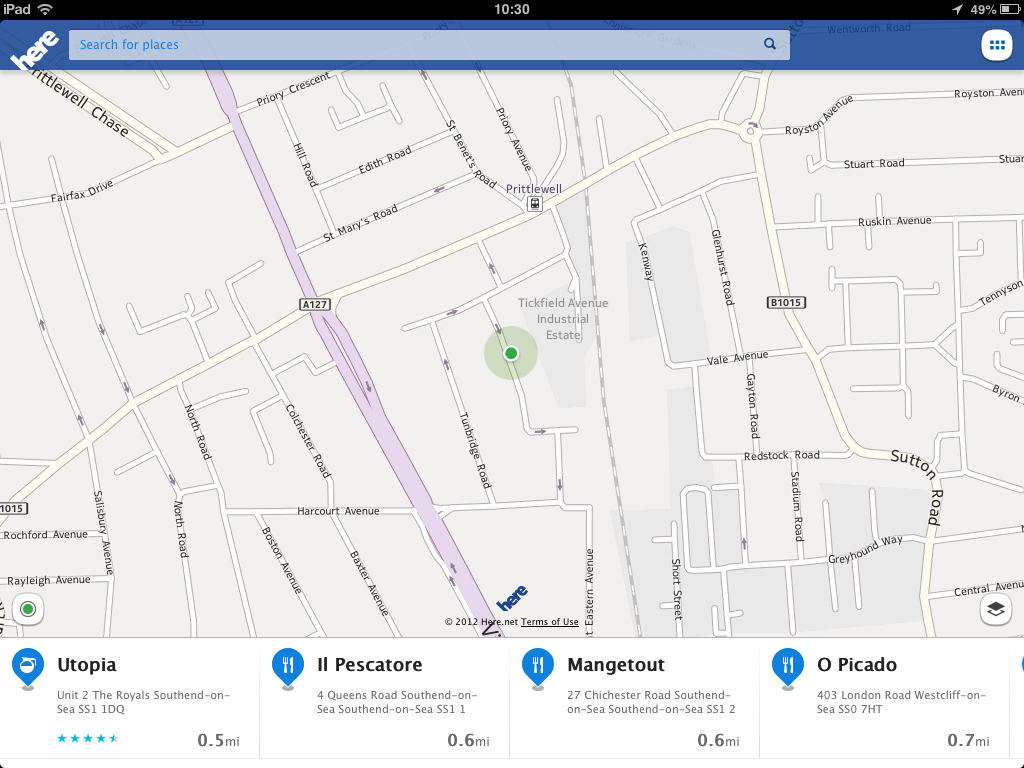 nokia here maps disclosure . nokia's here maps hits the app store available on iphone ipad