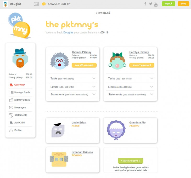 pktmny 1 730x681 PKTMNY launches out of beta to offer kids pre paid debit cards and ways to manage their cash