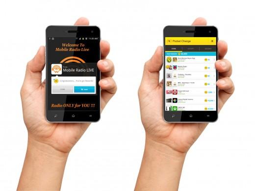 Pocket Change integration screenshot