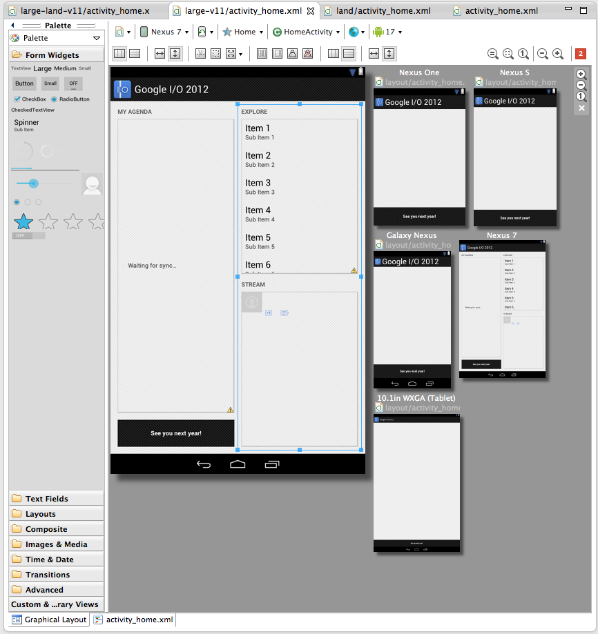 googles new android dev tools improve ui layout preview screens 1 google updates android sdk tools - Android Ui Maker