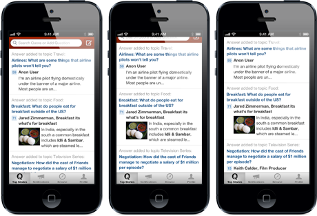 Quora updates its interface