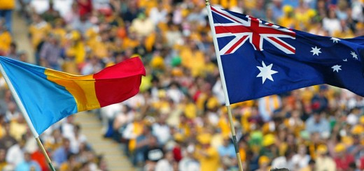 The Australian and Romanian flags Getty Images